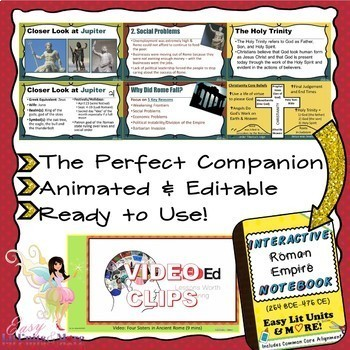 PowerPoint Companion for The Roman Empire (Ancient Rome) INB {Set 2}
