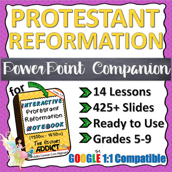 PowerPoint Companion for the Protestant Reformation Era Interactive Notebook