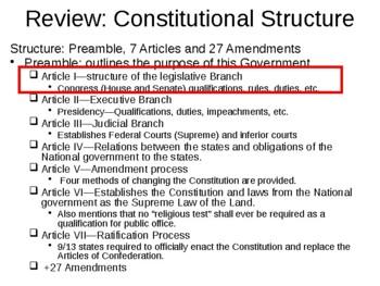PowerPoint: Congress