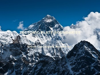 Convergent Plate Boundaries PowerPoint