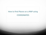 PowerPoint: Coordinates on a Map