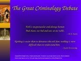 PowerPoint: Criminology Theories