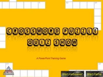 PowerPoint Crossword Puzzle Quiz Show Game