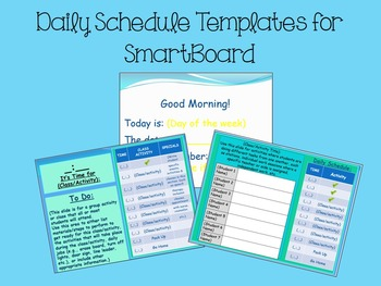 PowerPoint Daily Schedule {FREEBIE}