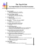 PowerPoint Design Guidelines Handout for Students
