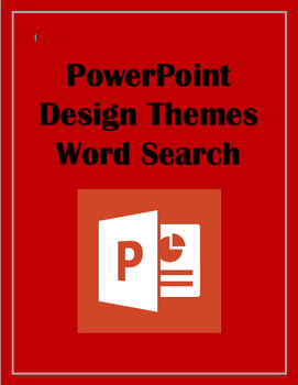 PowerPoint Design Theme Word Search