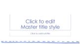 PowerPoint Design (blank presentation) - Blue Marker - (El