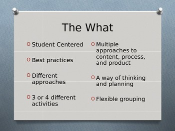 PowerPoint - Differentiated Instruction