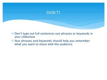 PowerPoint Do's and Don'ts