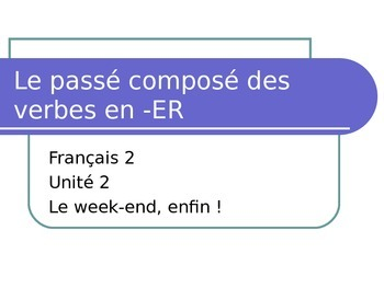 PowerPoint - ER verbs in Passé composé