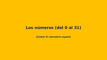 PowerPoint-El calendario-Los números del 0 al 31