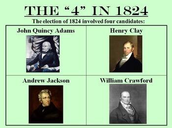 Election of 1824 and John Quincy Adams -- PowerPoint