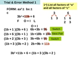 PowerPoint Factoring trinomials of the form ax^2 + bx + c
