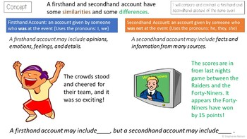 ri 4 6 powerpoint first hand and second hand accounts tpt