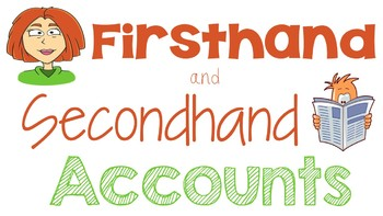 RI 4.6 PowerPoint: First Hand and Second Hand Accounts in