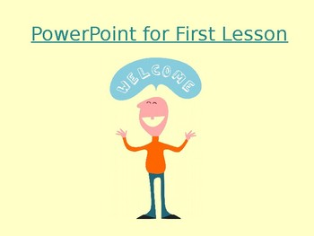 PowerPoint - First Lesson: Intro, Guidelines, Procedures (Any Subject)