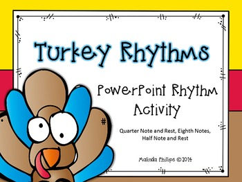 PowerPoint: Turkey Rhythms for the Kodaly or Orff Music Classroom