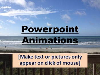 FREE PowerPoint Flashcards Animation Tool