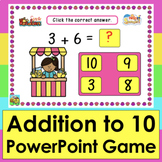 PowerPoint GAME Addition to 10 Summer 56 Facts Distance Le