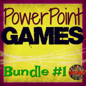 PowerPoint Game Bundle - Rhythm/Treble Clef/Classical/Orchestra Elementary Music