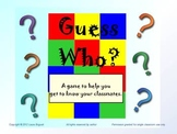"Beginning of the year Ice Breaker:  PowerPoint Game ""Guess Who"""