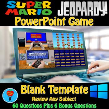 Jeopardy & Super Mario PowerPoint Game Bundle - 2 Customiz