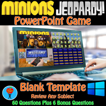 Minions & Jeopardy PowerPoint Game Bundle - 2 Customizable Games