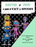 Matter of Fact: Distinguishing Between Fact & Opinion PowerPoint Game