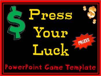 PowerPoint Game – Plays like Press Your Luck