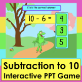 PowerPoint Game Subtraction to 10 Animated Spring 50 Facts