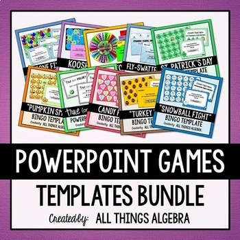 Powerpoint Game Template Bundle By All Things Algebra Tpt