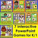 PowerPoint Games Bundle:  Interactive Kindergarten First G