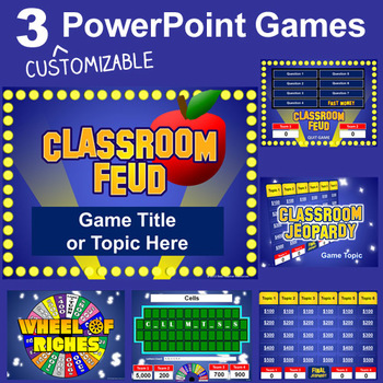 PowerPoint Games Pack - 3 Customizable Templates by Best Teacher ...