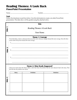 PowerPoint Template: HM 6th Grade Reading Themes