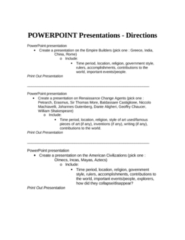 PowerPoint History Presentation Instructions (activities)