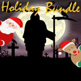 Halloween & Christmas PowerPoint Game Bundle - 2 Customiza