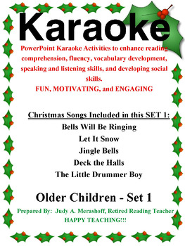 PowerPoint Holiday Karaoke Activities-Older Students-Set 1