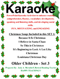PowerPoint Holiday Karaoke Activities-Older Students - Set 3