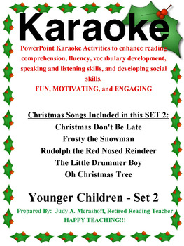 PowerPoint Holiday Karaoke Activities-Younger Students-Set 2