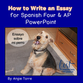 PowerPoint How to Write an Essay for Spanish Four and AP Distance Learning