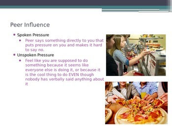 PowerPoint: Influence on Food: Peers, Emotions and Family