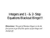 PowerPoint: Integers and Multi-Step Equations Blackout Bingo