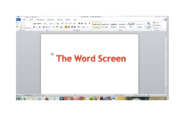 PowerPoint - Introducing the Microsoft Word 2010 Screen
