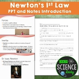 PowerPoint Introduction to Forces, Inertia and Newton's 1st Law
