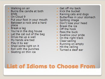 Idioms PowerPoint Activity