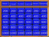 PowerPoint Jeopardy Template (Review of Spanish 1-2 for midterm)