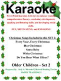 PowerPoint Holiday Karaoke Activities-Older Students - Set 2