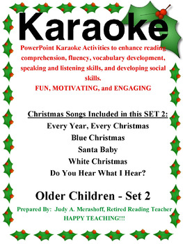 powerpoint holiday karaoke activities older students set 2 - Blue Christmas Karaoke