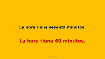 PowerPoint-El reloj: La hora