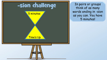 PowerPoint Lesson On Words Ending In The Suffix 'sion' and 'ssion'